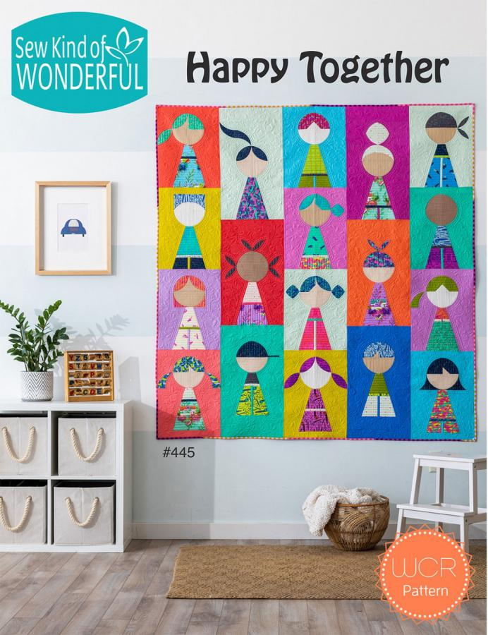 Happy Together quilt sewing pattern from Sew Kind of Wonderful