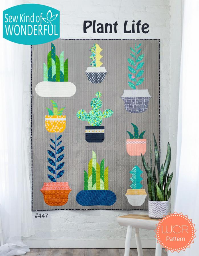 Plant Life quilt sewing pattern from Sew Kind of Wonderful