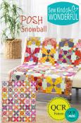 Posh Snowball quilt sewing pattern from Sew Kind of Wonderful