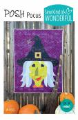 Posh Pocus witch wall hanging/quilt sewing pattern from Sew Kind of Wonderful