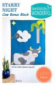 Starry Night Cow Bonus Block quilt sewing pattern from Sew Kind of Wonderful