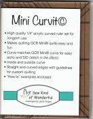 Mini Curvit LONGARM Quilting Ruler from Sew Kind of Wonderful