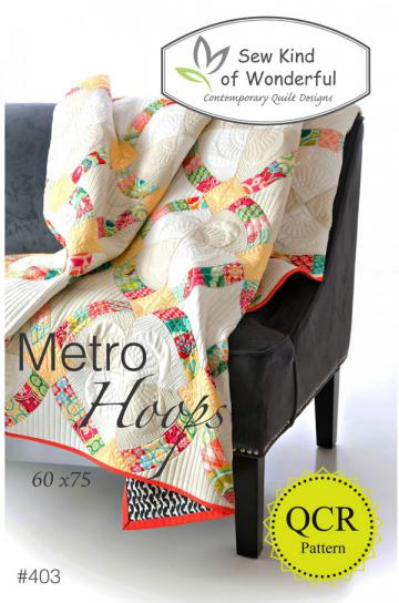 Metro Hoops Quilt sewing pattern from Sew Kind of Wonderful