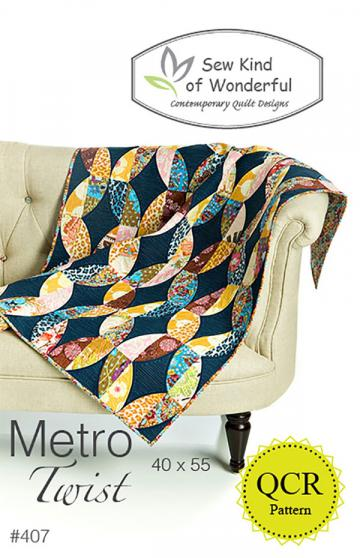Metro Twist Quilt sewing pattern from Sew Kind of Wonderful