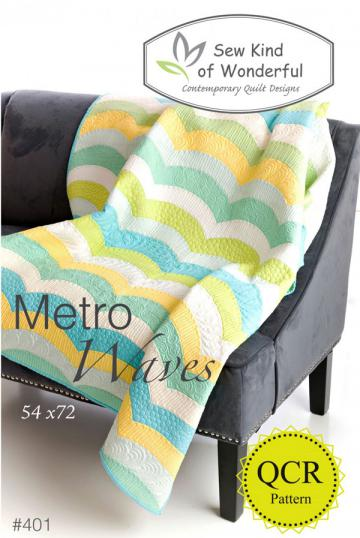 Metro Waves Quilt sewing pattern from Sew Kind of Wonderful