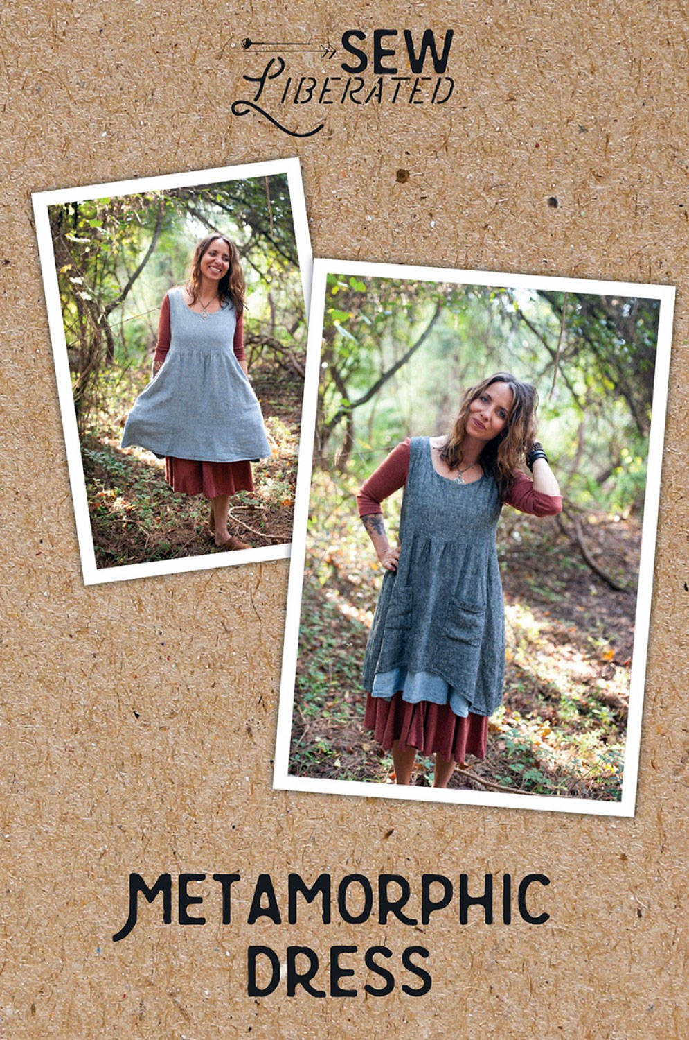 Metamorphic-dress-sewing-pattern-Sew-Liberated-front