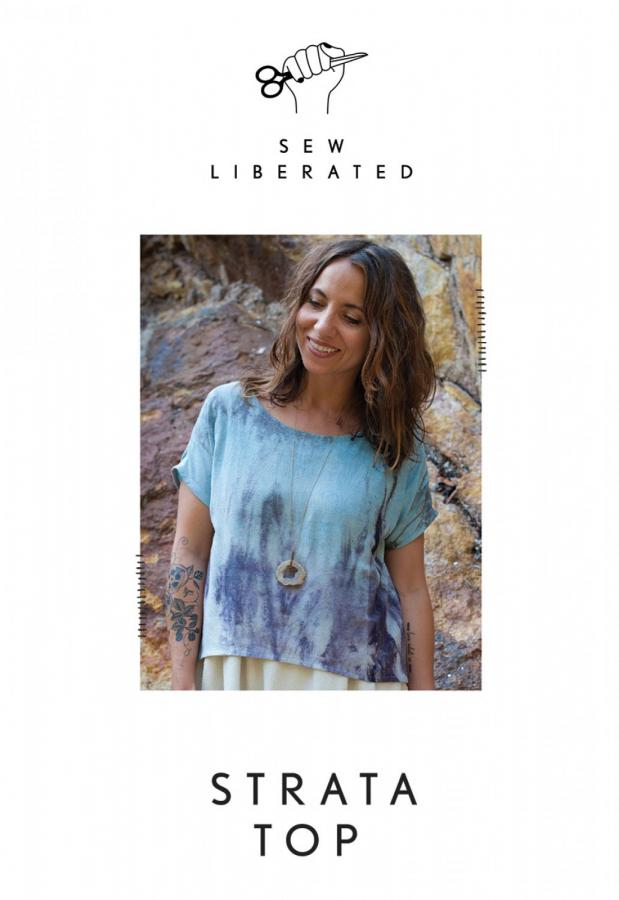 Strata Top sewing pattern from Sew Liberated