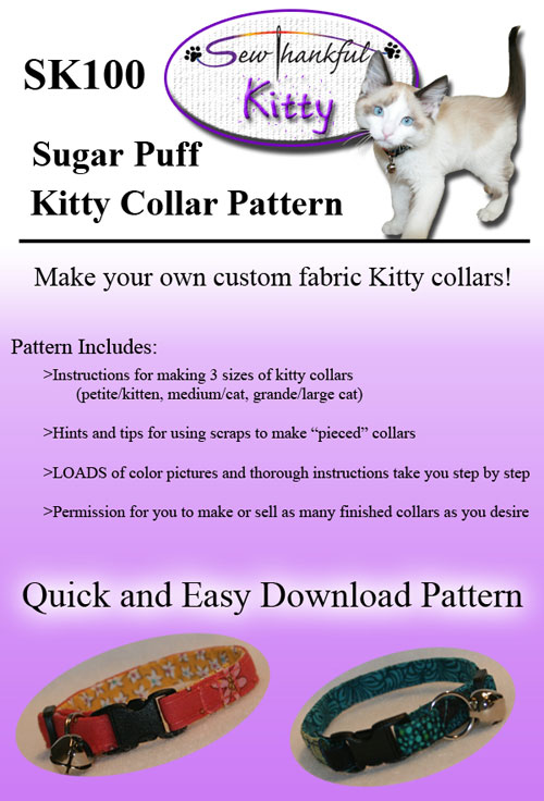 Sugar Puff Kitty Collar Sewing Pattern