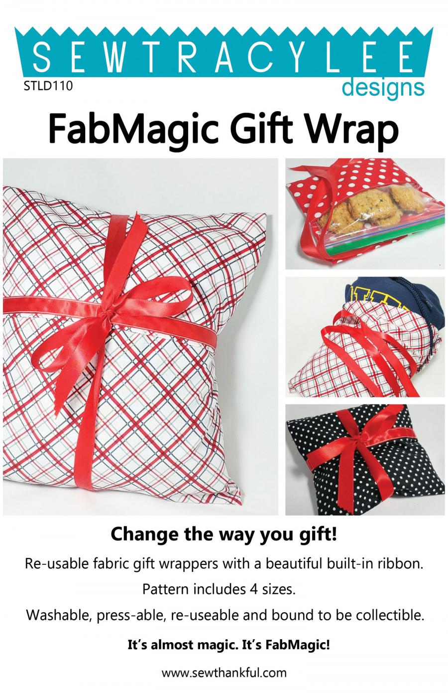 Download - FabMagic Gift Wrap sewing pattern from Sew TracyLee Designs