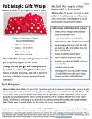 Download - FabMagic Gift Wrap sewing pattern from Sew TracyLee Designs 1