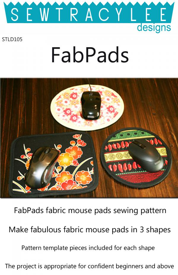 Download - FabPads mouse pads sewing pattern from Sew TracyLee Designs