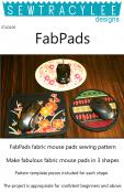Print - FabPads mouse pads sewing pattern from Sew TracyLee Designs