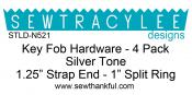 Key Fob Hardware - Silver Tone - 4 Pack from Sew TracyLee Designs 2