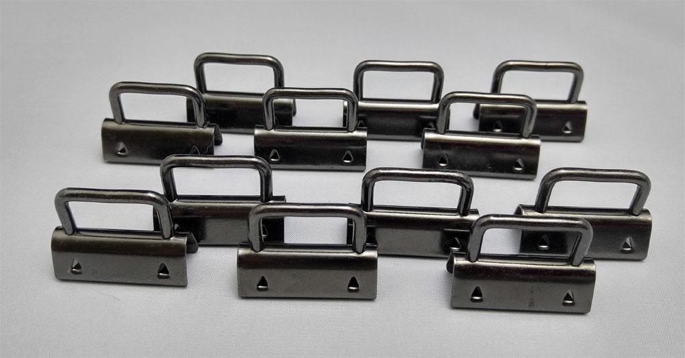 Strap-Ends-12-Pack-GunMetal-Sew-TracyLee-Desgins