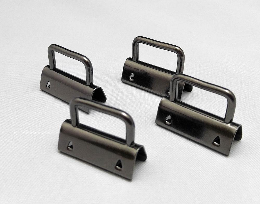 Strap-Ends-4-Pack-GunMetal-Sew-TracyLee-Desgins