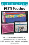 Print - PSST! Pouches sewing pattern from Sew TracyLee Designs