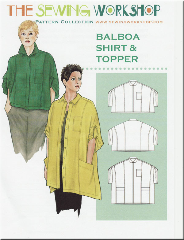 Balboa Shirt Topper Sewing Pattern From The Sewing Workshop