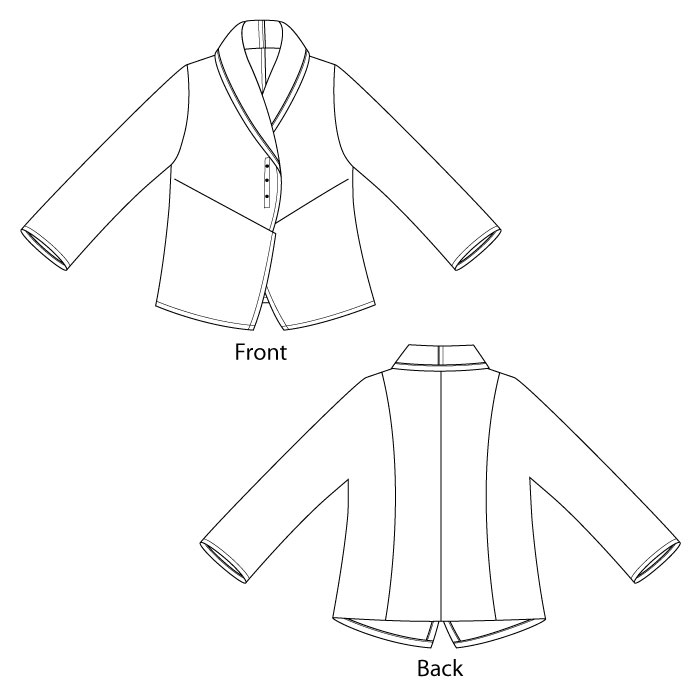 Pearl & Opal Jacket sewing pattern from The Sewing Workshop