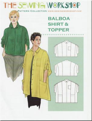 Balboa Shirt & Topper sewing pattern from The Sewing Workshop