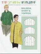 CLOSEOUT...Balboa Shirt & Topper sewing pattern from The Sewing Workshop