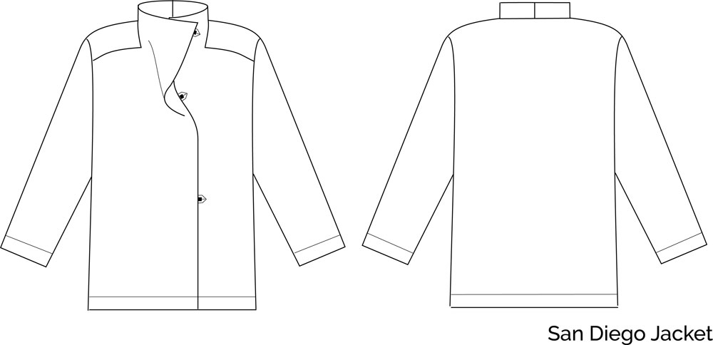 San Diego Tunic, Top & Jacket sewing pattern from The Sewing Workshop