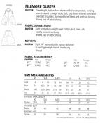 Fillmore Duster sewing pattern from The Sewing Workshop 2