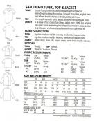 San Diego Tunic, Top & Jacket sewing pattern from The Sewing Workshop 2