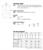 Cottage Shirt sewing pattern from The Sewing Workshop 1