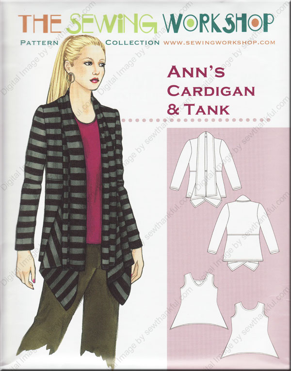 Ann\'s Cardigan & Tank sewing pattern from The Sewing Workshop