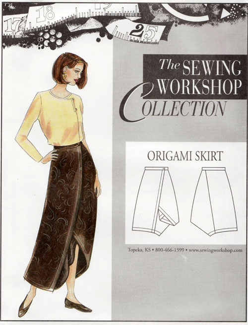 Origami Skirt Pattern From The Sewing Workshop