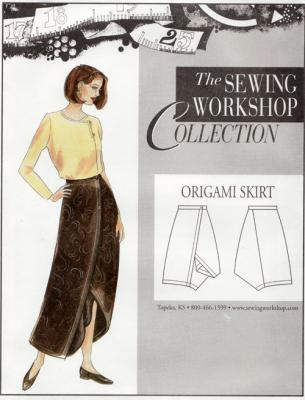 Step by step instructions how to make origami a skirt. Stock.