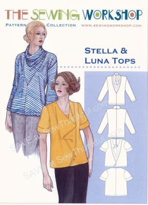 Stella & Luna Tops sewing pattern from The Sewing Workshop
