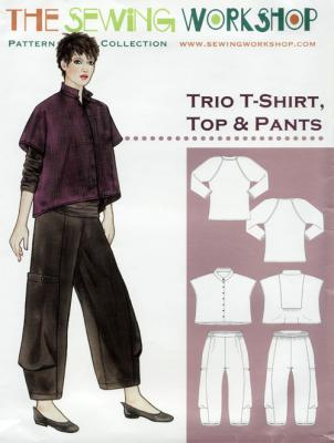 Trio-T-Shirt-Top-and-Pants-sewing-pattern-The-Sewing-Workshop-front