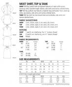 MixIt Shirt, Top & Tank Pattern from The Sewing Workshop 2