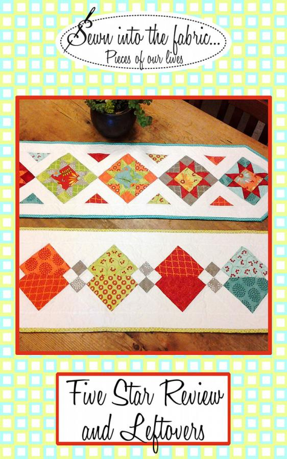 Five Star Review and Leftovers Table Runner sewing pattern from Sewn Wyoming