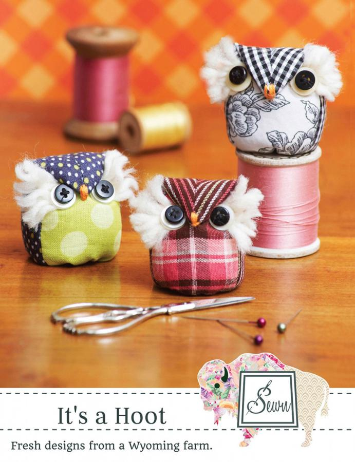 It's A Hoot Pincushion sewing pattern from Sewn Wyoming