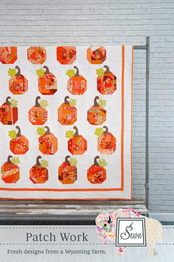 Patch Work (pumpkins) quilt sewing pattern from Sewn Wyoming