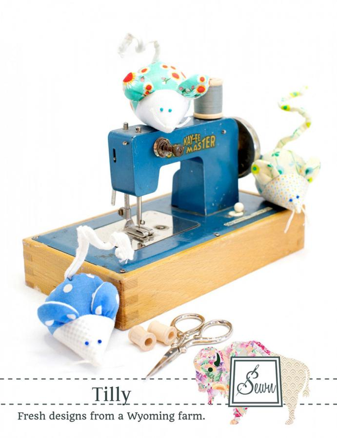 Tilly Mouse Pincushion sewing pattern from Sewn Wyoming