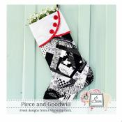 Piece and Goodwill Holiday Stocking sewing pattern from Sewn Wyoming