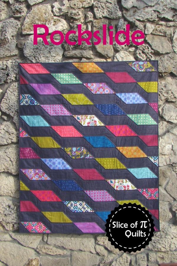 Rockslide quilt sewing pattern from Slice of Pi Quilts