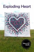 Exploding Heart quilt sewing pattern from Slice of Pi Quilts