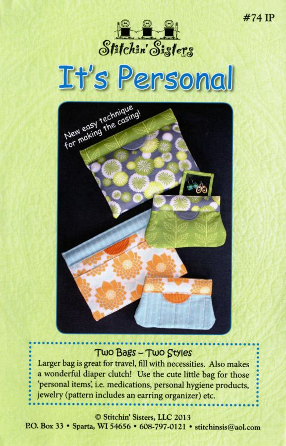 It's Personal sewing pattern from Stitchin Sisters