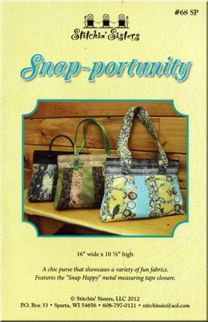 Snap-portunity sewing pattern from Stitchin Sisters