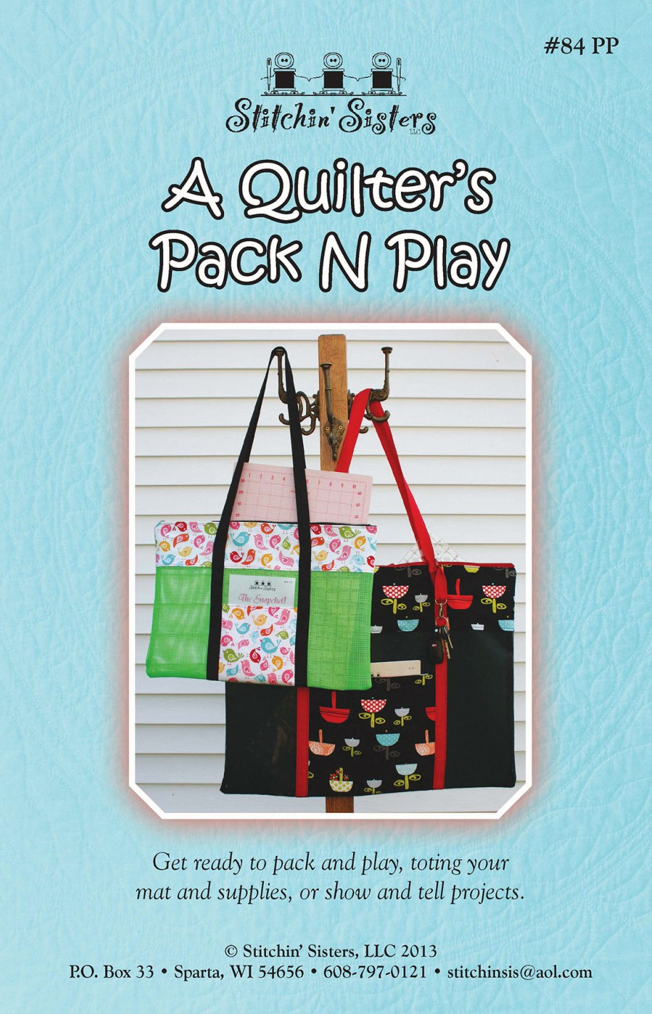 a-quilters-pack-and-play-sewing-pattern-Stitchin-Sisters-front
