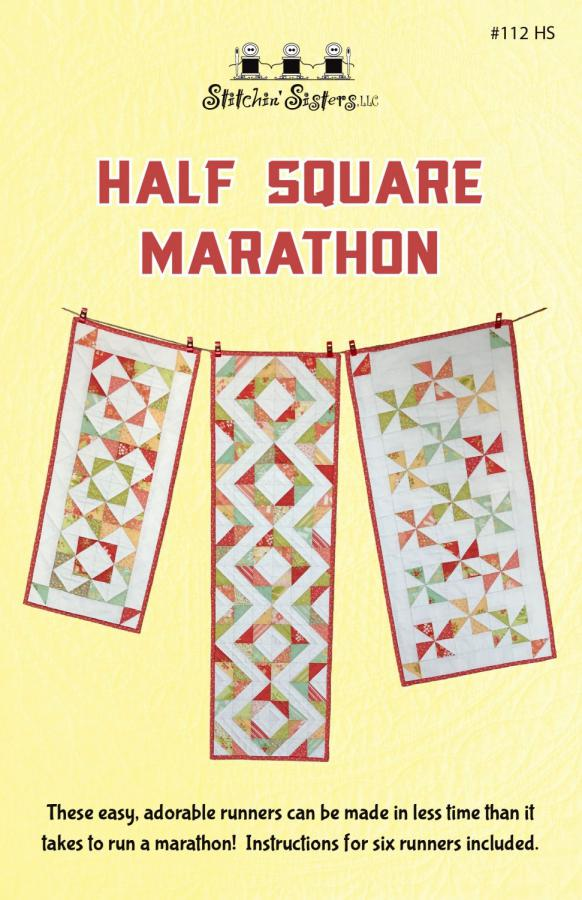 Half Square Marathon sewing pattern from Stitchin Sisters