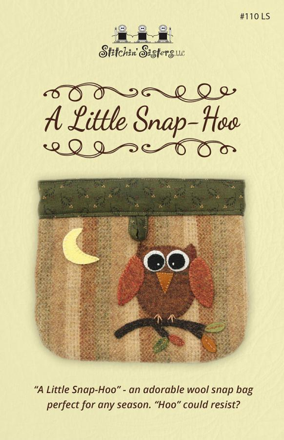 A Little Snap Hoo sewing pattern from Stitchin Sisters