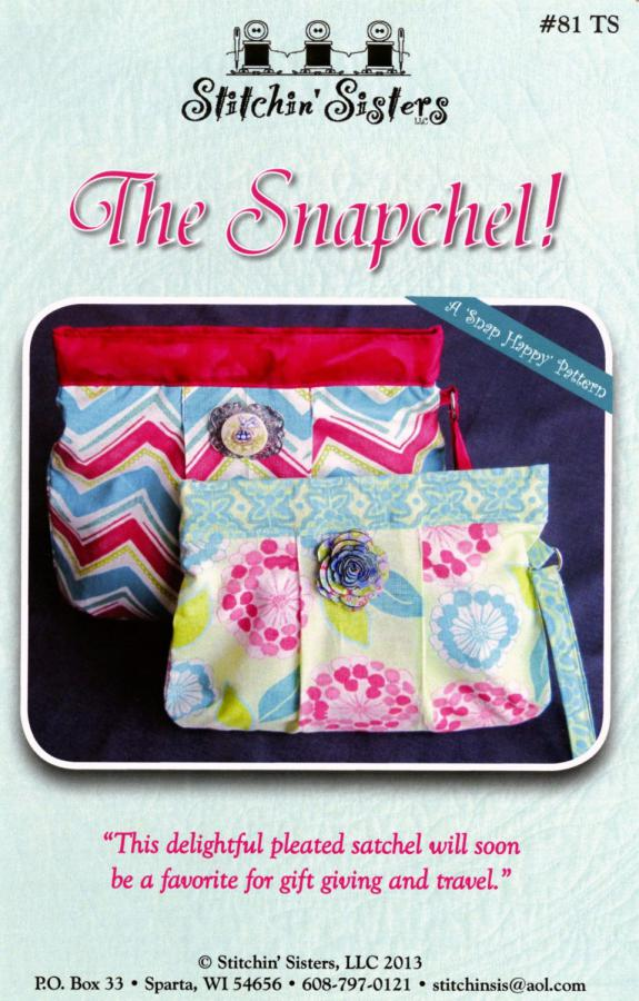 The Snapchel sewing pattern from Stitchin Sisters