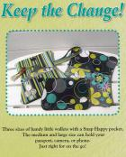 Keep the Change wallet sewing pattern from Stitchin Sisters 2