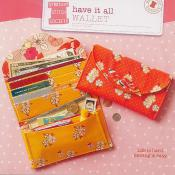 Have It All Wallet sewing pattern from Straight Stitch Society