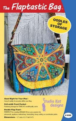 The Flaptastic Bag sewing pattern from Studio Kat Designs